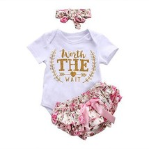 2018 new Newborn Baby Girls Clothes Playsuit Romper Pants+ Headband  Out... - $10.99