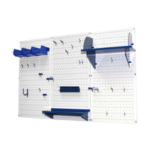 4ft Standard Tool Storage Kit - White Toolboard & Blue Accessories - $168.59