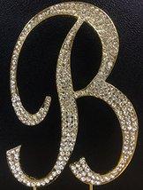 Crystal Rhinestone Covered Gold Monogram Wedding Cake Topper Letter B - $11.39