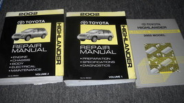 2002 Toyota Highlander Service Shop Repair Manual Set W Wiring Diagram Book Ewd - $217.75