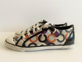 Coach Barrett Graphic Op Art Purple Multi-Color Women's Tennis Shoes Size 9M - $33.30
