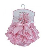 Pink Quatrefoil Diaper Cover and Headband Set, Girls, Stephan Baby 6-12M - $18.95