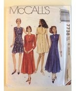 McCall's 7738 Sewing Pattern Keyhole Opening Front Button Dress Size 20-24 - $14.95