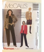 McCall's 4177 Woman's Petite Unlined Jacket, Skirt, & Pants Size 18W-24W - $22.95