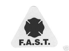 F.A.S.T. Reflective Helmet Decals - 20. Firefighter Assisted Search Team - Black - $38.61