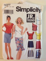 Simplicity 5666 JR. Trend Sewing Pattern Juniors Skirt & Tops Size 3-10 - $12.99