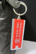 "NEW RED SILVER METAL KEY CHAIN ABOUT 3"" WITH FL... - $9.79"
