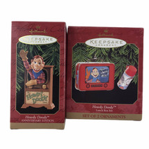 Hallmark 1997 1999 Howdy Doody Lunch Box And Anniversary Ornaments Lot Of 2 - $16.66