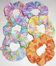 Hair Scrunchie Butterflies Butterfly Tie Ponytail Holder Scrunchies By S... - $6.92+