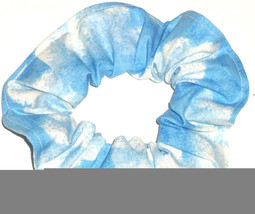 Clouds Sky Blue Fabric Hair Scrunchie Tie Ponytail Holder Scrunchies by ... - $6.99