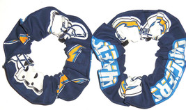 San Diego Chargers Fabric Hair Scrunchies by Sherry Ties Ponytail Holder... - $6.99+