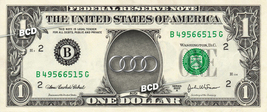 AUDI Auto Logo on REAL Dollar Bill Collectible Cash Money Gift - $6.66