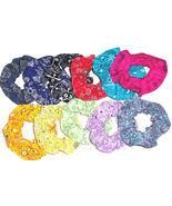 Bandana Scrunchie Paisley Western Print Fabric Hair Scrunchies Ties Band... - $6.92+