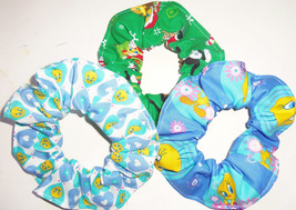 Looney Tunes Tweety Bird Bugs Bunny Fabric Hair Scrunchies Ties Ponytail... - $5.99+