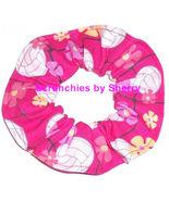 Hair Scrunchie Volley Balls Hot Pink Ponytail Holder  Tie Scrunchies by ... - $6.99+