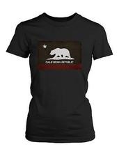 Women's Graphic Black T-Shirt - California Republic Flag - $14.99+