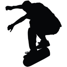 Skateboarding Wall Decal Sticker - Skating Sports Silhouette Decoration ... - ₹2,155.68 INR