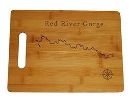 Red River Gorge Map Engraved Bamboo Cutting Board 9.75x13.75 inches Kent... - $34.64
