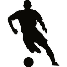 Soccer Wall Decal Sticker - 48 in. Soccer Player Silhouette Decoration M... - $39.95