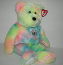 Ty Happy Birthday Bear Buddy Retired Pastel Colors Collectors Quality Mi... - $9.99