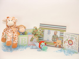 Baby animals gift basket spread thumb200