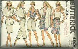Butterick Sewing Pattern 4929 Misses Womens Shirt Top Skirt Shorts Pants 6 8 10 - $12.99