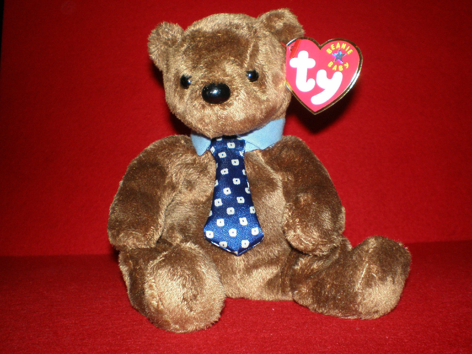 def179c588f New Ty Hero Beanie Baby Bear Dad MWMT and 50 similar items