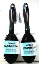 2 Count Conair Rainbow Collection Detangle & Style Ideal For All Hair Type Brush - $23.99