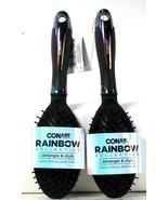 2 Count Conair Rainbow Collection Detangle & Style Ideal For All Hair Ty... - £17.22 GBP