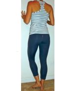 hard tail flat waist capri gray xs small - $64.99