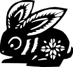 Rabbit Chinese Zodiac Wall Sticker Decal Silhouette Decoration - 12 in. ... - €6,11 EUR