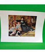"Fine Art Prints - ""Mme. Charpentier and Her Children"" - 9 X 12 - $3.95"