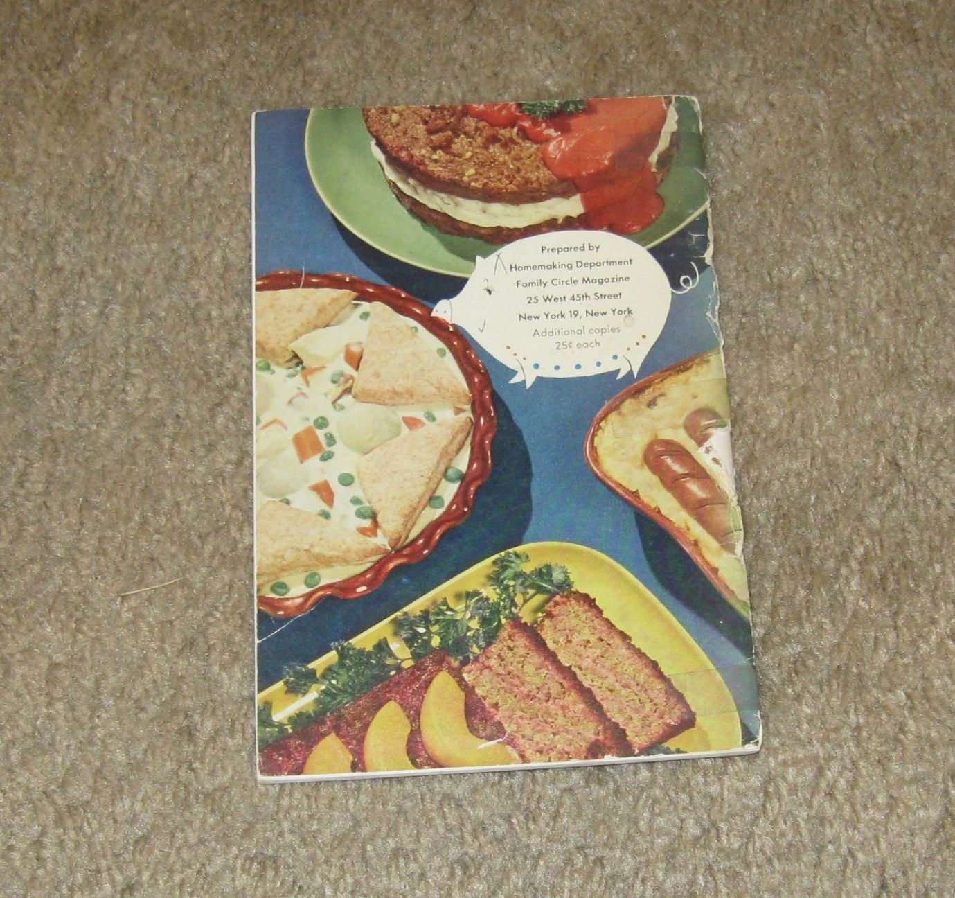 Vtg Cooking Booklet-101 Penny Saving Main Dishes-from Family Circle-Circa 1950