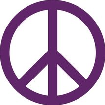 Peace Sign Wall Sticker Decal - Peace Symbol Silhouette Decoration - 18 ... - $13.95