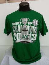 2013 Grey Cup Saskatchewan Roughriders Shirt -Shiny Grey Cup Graphic -Me... - $39.00