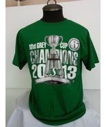 2013 Grey Cup Saskatchewan Roughriders Shirt -Shiny Grey Cup Graphic -Me... - $39.00