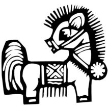 Horse Chinese Zodiac Wall Sticker Decal Silhouette Decoration - 24 in. B... - €17,54 EUR