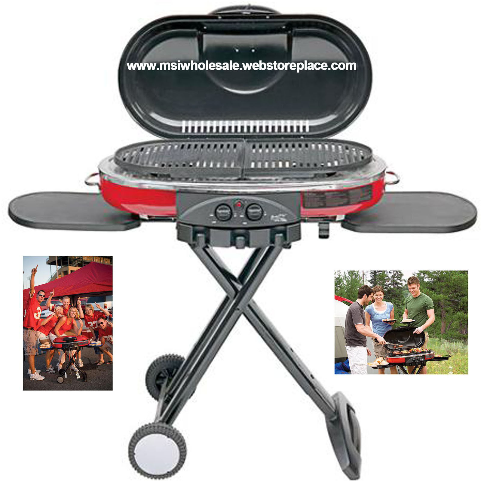 Portable Coleman Road Trip Grill LXE 2-Burner Propane Tailgating Camping 36 inch
