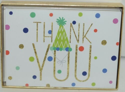 Caspari 88600 48 Party Hats 8 Thank You Notes and Envelopes Blank Inside