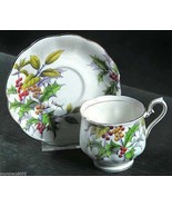 Royal Albert Older Flower the Month Holly Cup & Saucer - £15.54 GBP