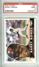2001 fleer barry bonds psa 9 san francisco giants graded baseball card - $14.99