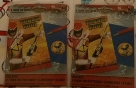 Power Rangers Dino Charge Kids Party Thank You Note Cards Lot/2 - $11.99