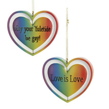 May Your Yuletide be Gay & Love is Love  Christmas Ornaments-Set of 2-Ho... - $18.99