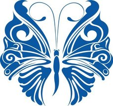 Butterfly Insect Wall Decal Sticker Mural - 12 in. Sapphire Blue [Kitchen] - $6.95