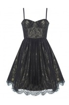 NWT AUTH Alice Olivia Yelle Bustier Flare Dress $565 - $125.00