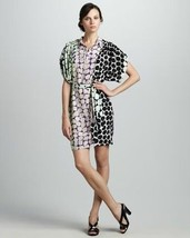 NEW AUTH Diane Von Furstenberg Karin Dot Trail Polka Dress With Belt - $99.99