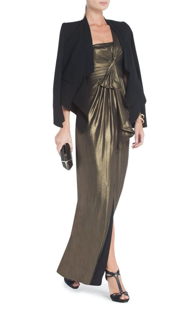 NEW  AUTH BCBG Max Azria Barbara One-Shoulder Evening Gown $348