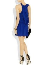 NEW Alice Olivia Cobalt Alaina Drop Waist Dress XS $396 - $98.99