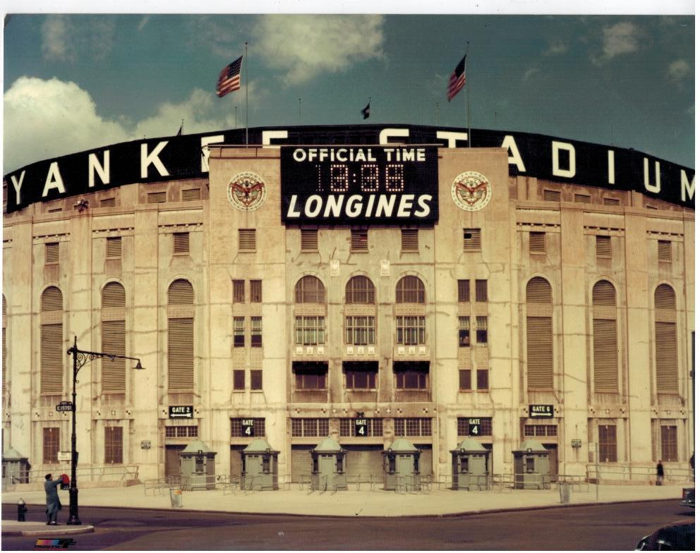 Yankee Stadium  O Longlines  New York Yankees Vintage 8X10 Color Baseball Photo
