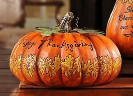Thanksgiving Pumpkin Garden Table Decor Polyresin image 1